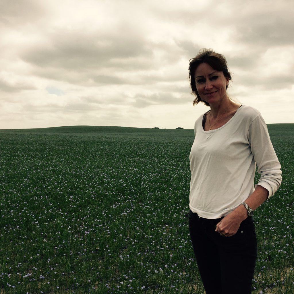 Hampekspert Bodil Engberg Pallesen fotograferede mig i hørmarken i sydsverige på vej hjem fra Folkemødet